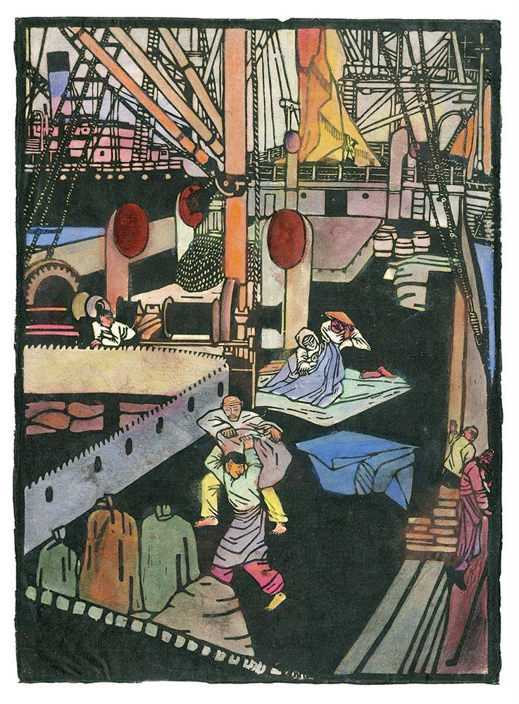 Chinesen auf dem Deck