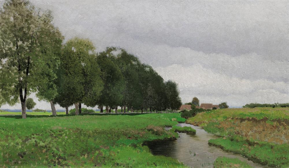 Landschaft mit Bach in Niederösterreich