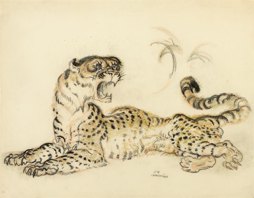 Fauchender Leopard