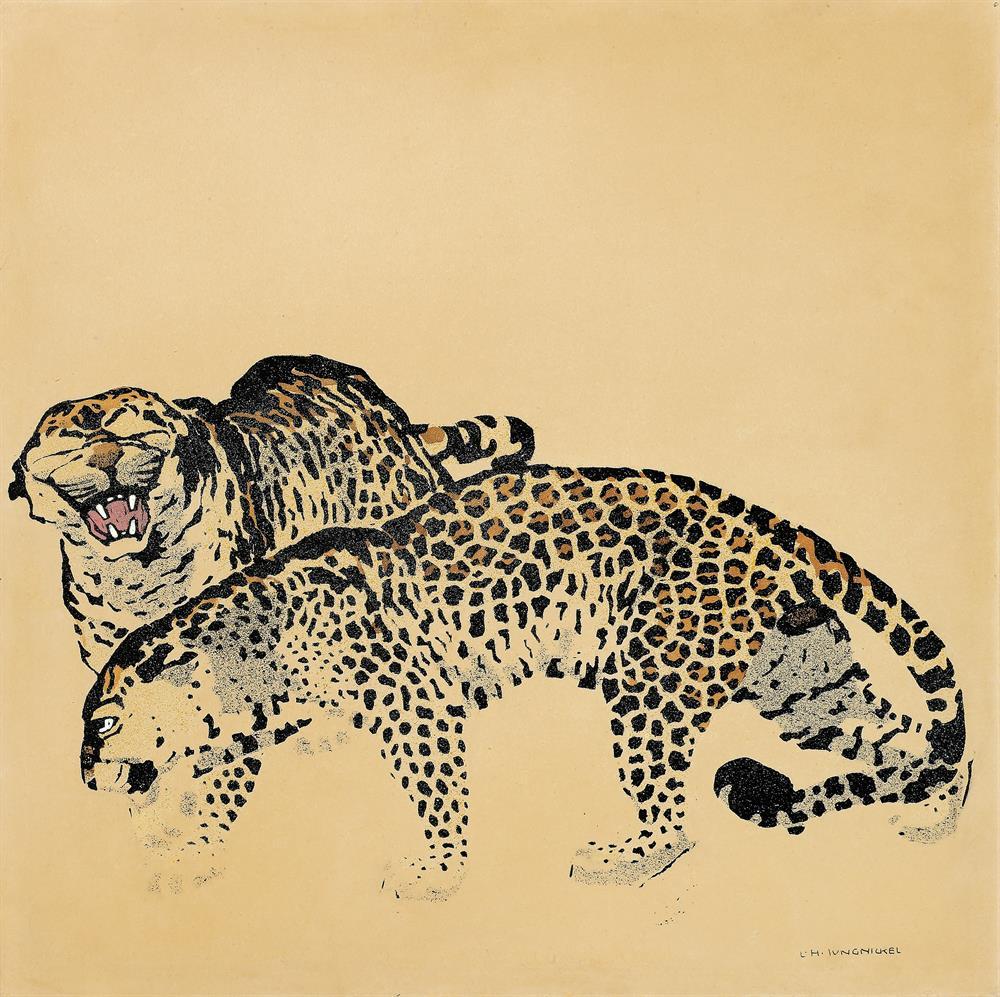 Zwei Leoparden