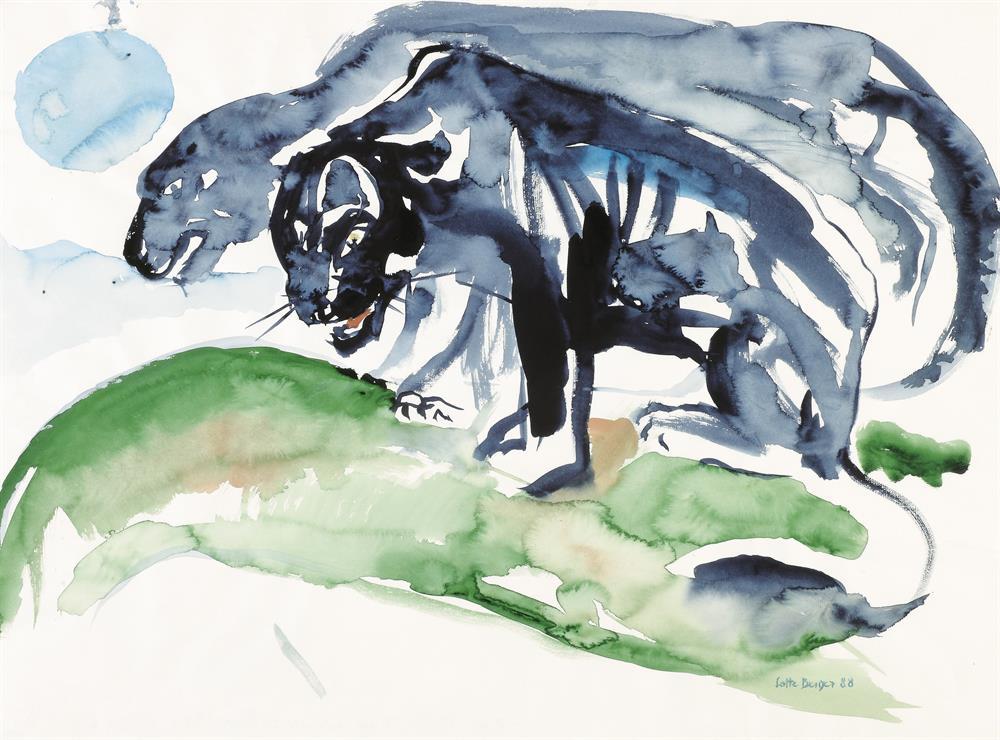 Zwei schwarze Panther